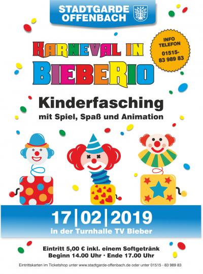 "Eintrittskarte STGO Kinderfasching 2019 ""Karneval in BiebeRio"""