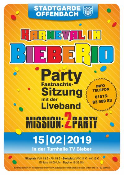 """Eintrittskarte (Stehplatz) STGO Sitzung 2019 """"Karneval in BiebeRio"""""""