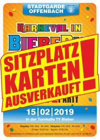 """Eintrittskarte (Sitzplatz) STGO Sitzung 2019 """"Karneval in BiebeRio"""""""