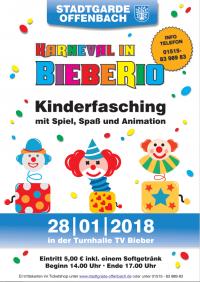"Eintrittskarte STGO Kinderfasching 2018 ""Karneval in BiebeRio"""