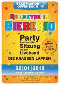 """Eintrittskarte (Stehplatz) STGO Sitzung 2018 """"Karneval in BiebeRio"""""""