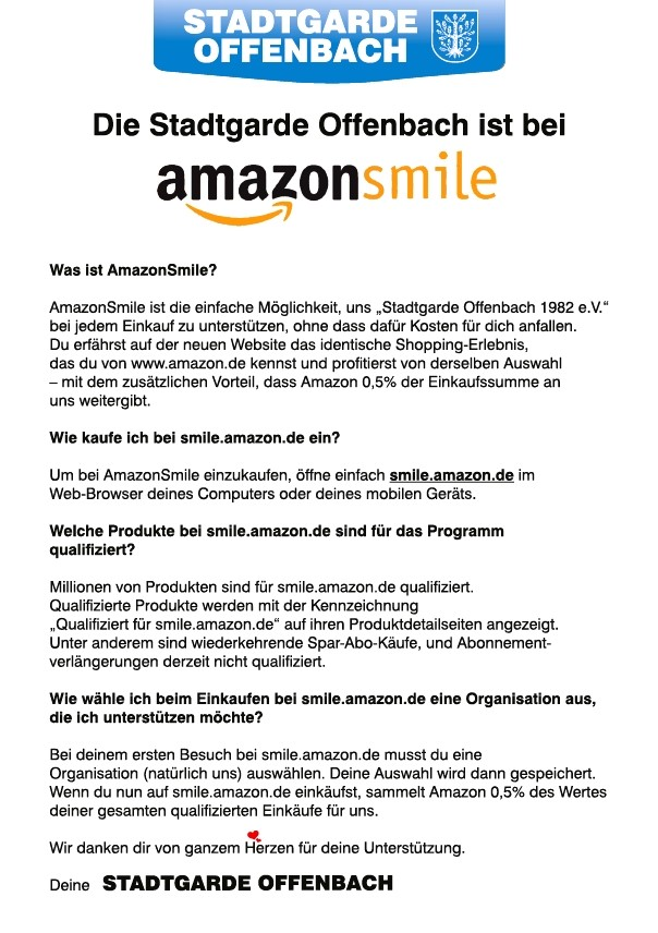 stadtgarde offenbach amazon smile